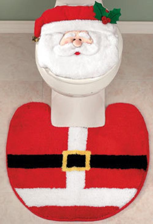 adornos para decorar el cuarto de bano alfombra vater Accesorios para Decorar el Cuarto de Baño en Navidad