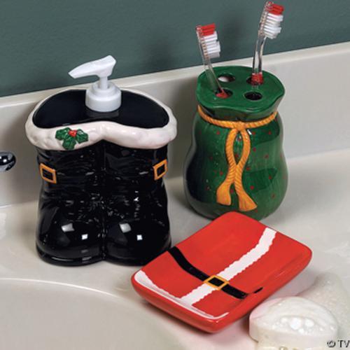 adornos para decorar el cuarto de bano jabonera jabon liquido Accesorios para Decorar el Cuarto de Baño en Navidad
