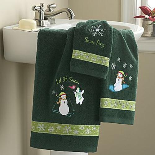 adornos para decorar el cuarto de bano muneco de nieve Accesorios para Decorar el Cuarto de Baño en Navidad