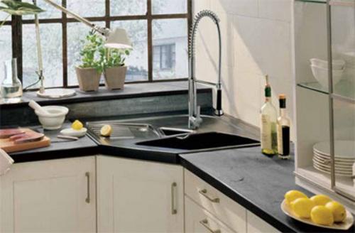 aprovechar espacio cocina fregaderos esquina 4 Aprovechar Espacio en la Cocina: Fregaderos en Esquina