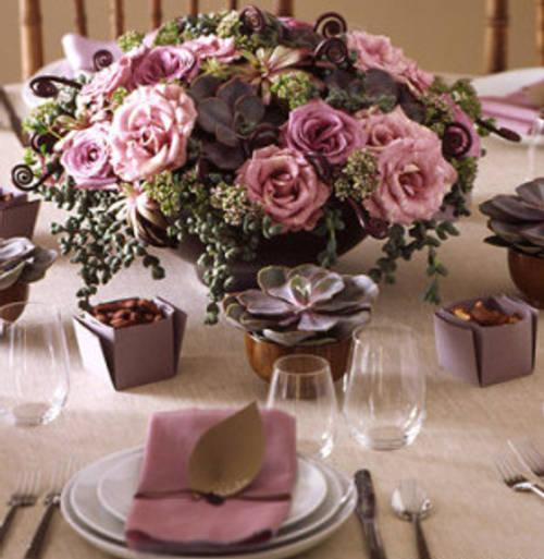 arreglo floral rosas original Ideas para hacer Centros de Mesa originales