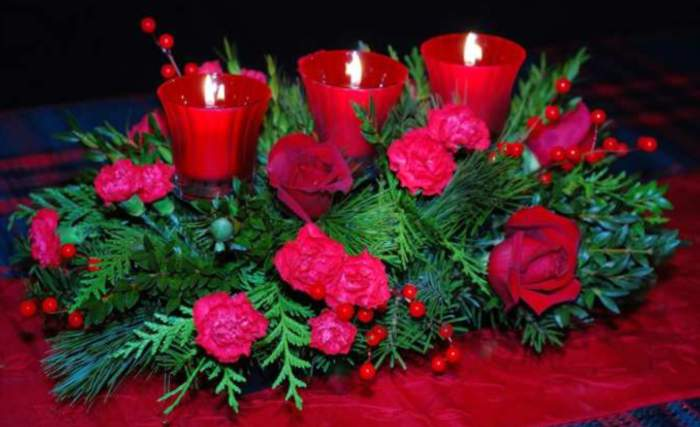 Flores navide imagui for Centro mesa navidad