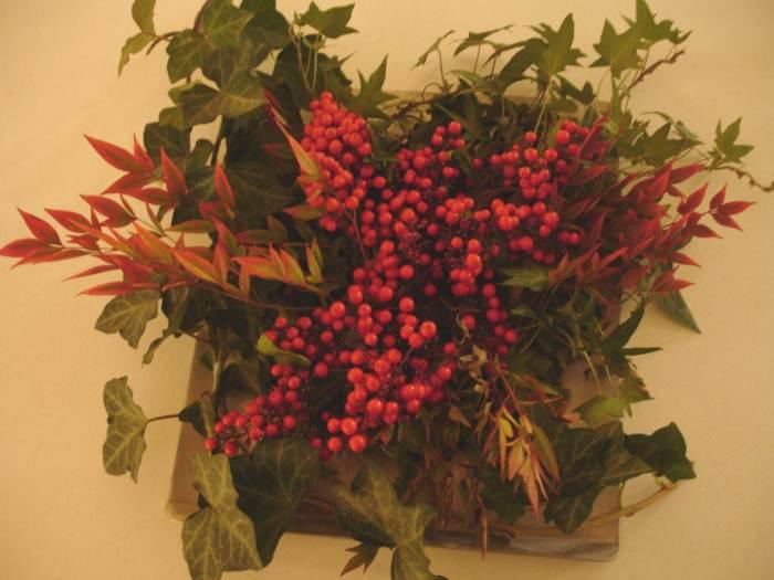 centro de mesa navidad plantas Más Ideas de Centros de Mesa y Arreglos Florales para Navidad