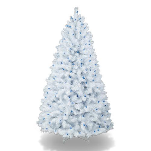coloridos arboles de navidad blanco y celeste Coloridos Árboles de Navidad