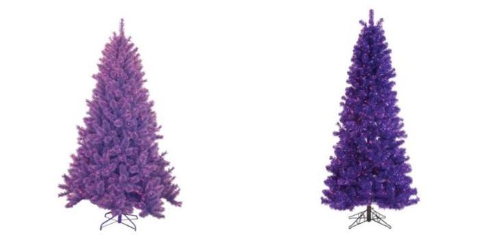 coloridos arboles de navidad gama violeta Coloridos Árboles de Navidad