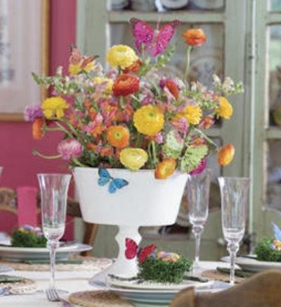 decoracion arreglos florales centros mesa 10 Decoración con Arreglos Florales y Centros de Mesa