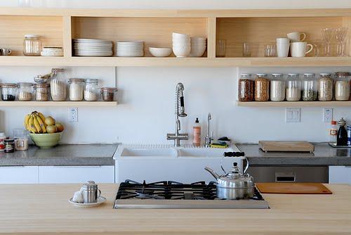 decoracion cocinas baldas estantes 6 Decoración de Cocinas con Baldas y Estantes