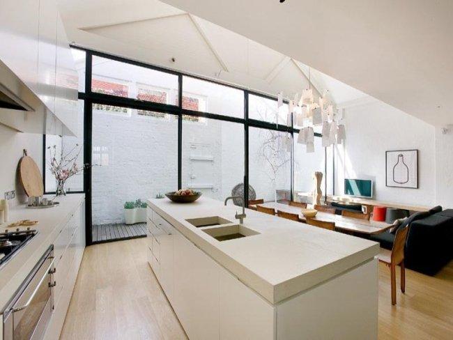 decoracion cocinas pequenas color blanco 3 Decoración de Cocinas Pequeñas: Color Blanco