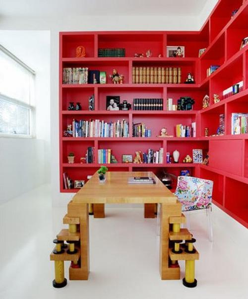 decoracion librerias estanterias casa 8 Decoración con Librerías y Estanterías para la Casa