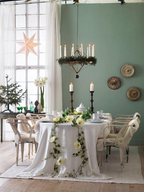 Decoración de Navidad Fresca y Natural para el Comedor