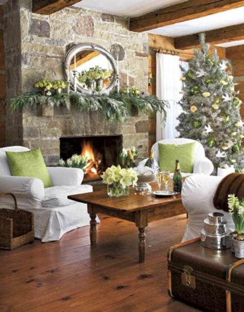 decoracion navidena para todas las habitaciones chimenea Decoración Navideña para todas las Habitaciones