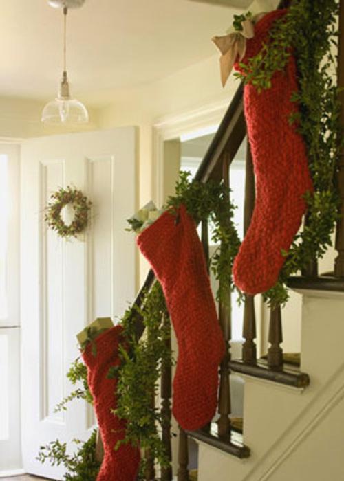 decoracion navidena para todas las habitaciones medias escalera Decoración Navideña para todas las Habitaciones
