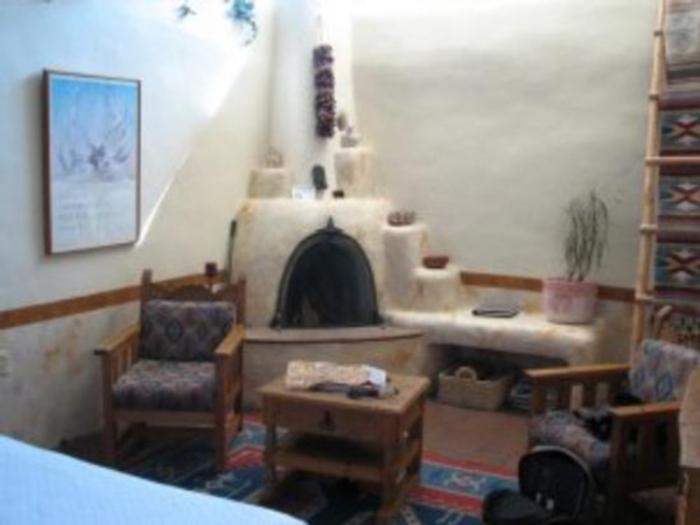 estante chimenea estilo santa fe Estilo Santa Fé