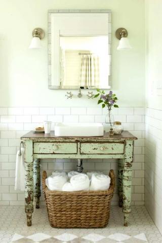 Muebles y Accesorios Vintage para el Baño
