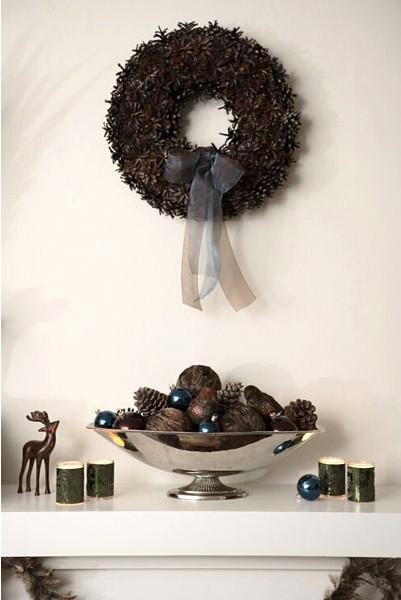 frutas secas pinas 10 Arreglos Rápidos para Decorar en Navidad