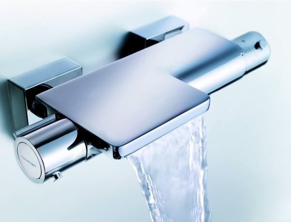 grifo termostatico cascada 600x457 Qué Es y Cómo Funciona un Grifo Termostático