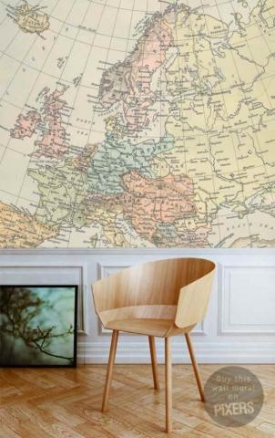 Fotomurales de Mapas de Inspiración Vintage