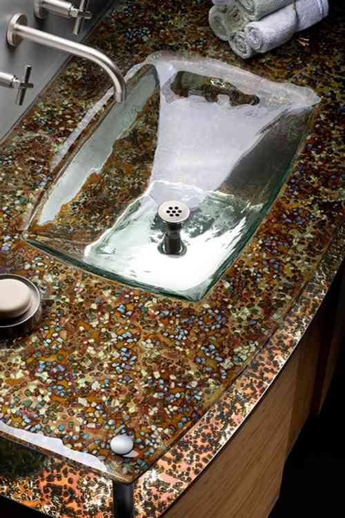 lavabos de cristal 1 Lavabo Integrado de Cristal