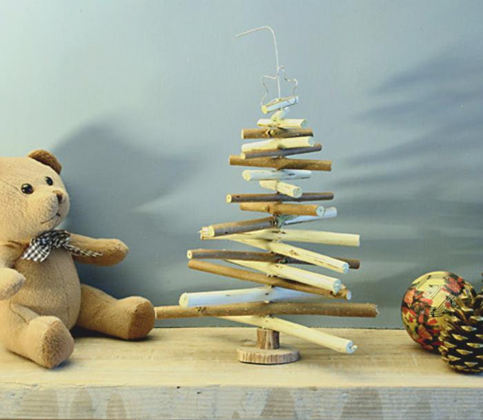 mini abol navidad con ramas naturales Mini Árbol de Navidad con Ramas Naturales