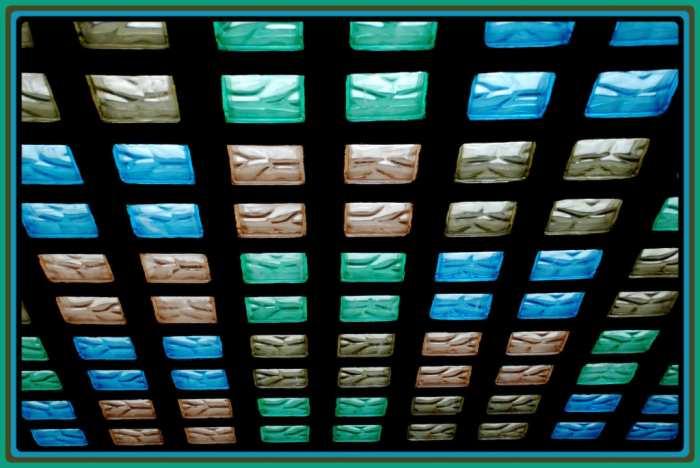 pared paves colores Aplicaciones del Cristal de Pavés