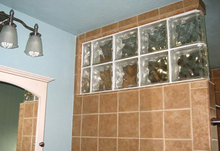 paves bano pared Aplicaciones del Cristal de Pavés  Segunda Parte
