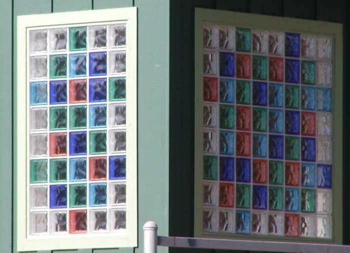 paves ventana colores Aplicaciones del Cristal de Pavés