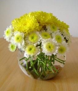 pecera3 255x300 Centros de Mesa y Arreglos Florales en Jarrones de Cristal