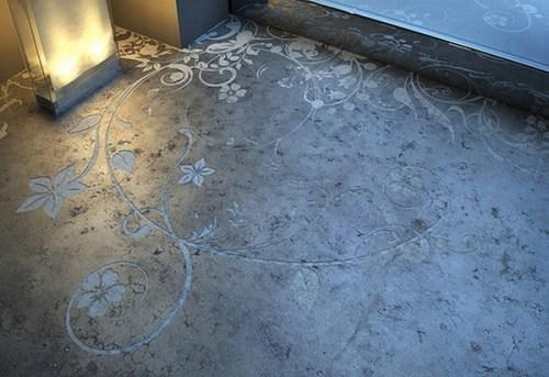 suelos concreto disenos decorativos 4 Suelos de Concreto con Diseños Decorativos