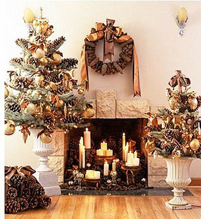 tips decoracion navidad ideas decorar chimeneas 8 Tips Decoración Navidad   Ideas para Decorar Chimeneas