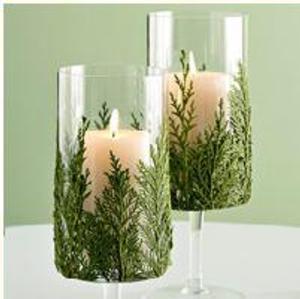 velas decoradas con ramas para navidad paso 4 Velas Decoradas con Ramas para Navidad